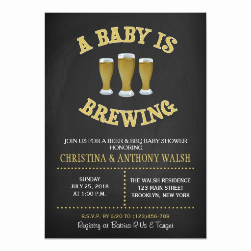 A Baby is Brewing Invitation Awesome A Baby is Brewing Baby Shower Chalk Bbq Invitation