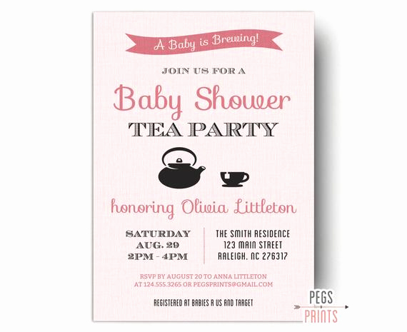A Baby is Brewing Invitation Best Of A Baby is Brewing Invitation Printable Baby Shower Tea
