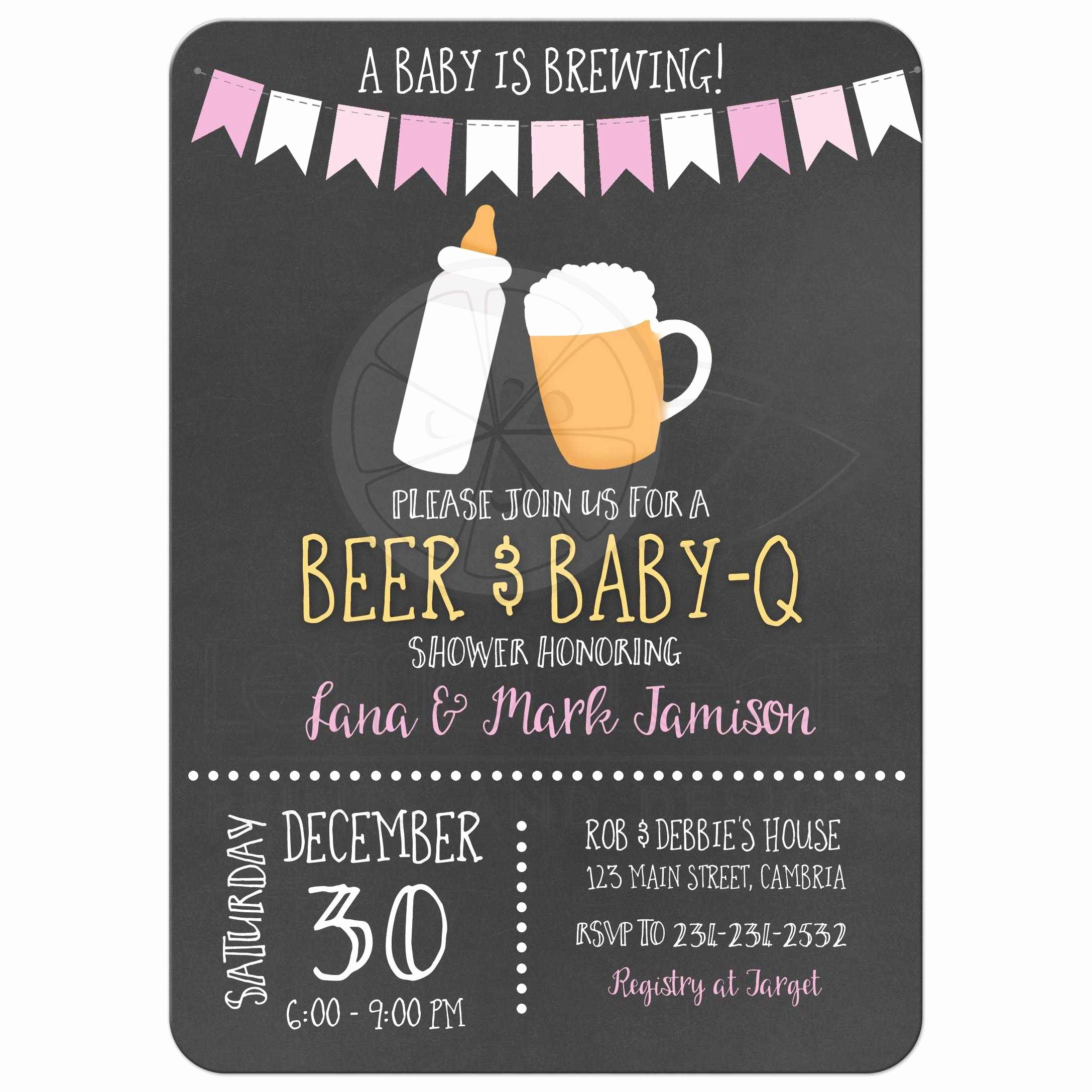 A Baby is Brewing Invitation Best Of Baby is Brewing Bbq Baby Q Co Ed Chalkboard Baby Shower
