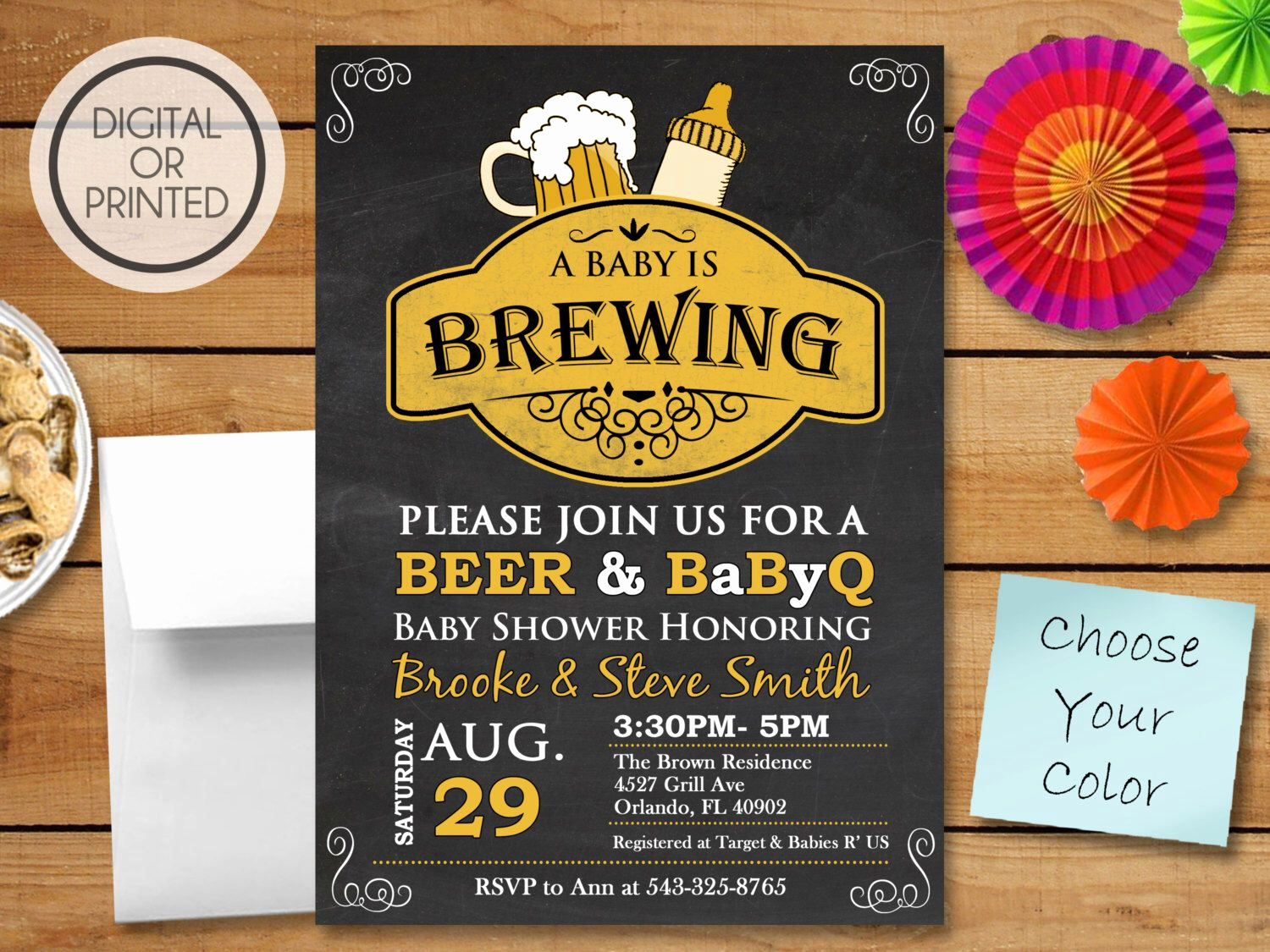 A Baby is Brewing Invitation Elegant A Baby is Brewing Invitation Bbq Baby Shower Invitation