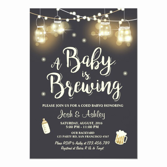 A Baby is Brewing Invitation Elegant Baby Q Invitation Coed Bbq Baby Brewing Shower