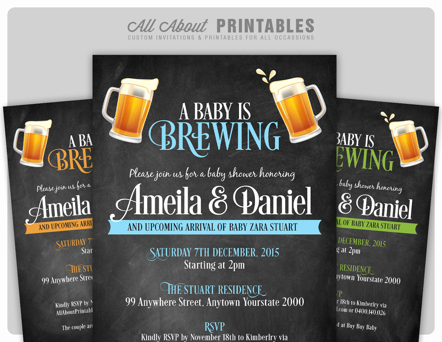 A Baby is Brewing Invitation Elegant Baby Shower Invitation A Baby is Brewing Baby Shower Invite