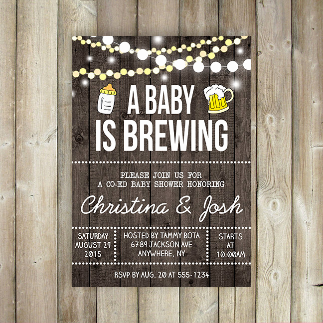A Baby is Brewing Invitation Fresh A Baby is Brewing Baby Shower Invitation Co Ed Baby Shower