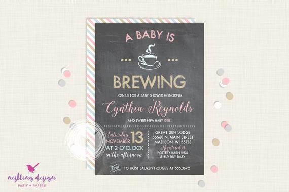 A Baby is Brewing Invitation Fresh A Baby is Brewing Baby Shower Invitation Coffee Baby Shower