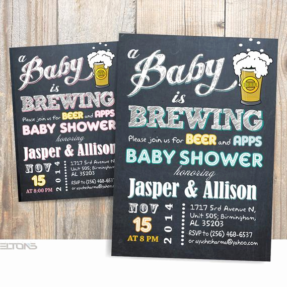 A Baby is Brewing Invitation Inspirational Baby is Brewing Baby Shower Babyq Party Invitation Beer