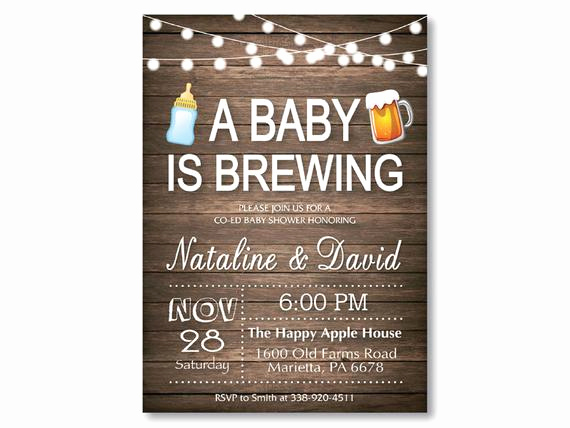 A Baby is Brewing Invitation Lovely A Baby is Brewing Baby Shower Invitation by