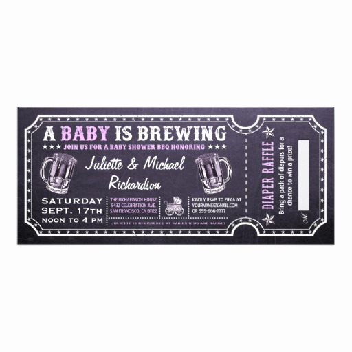 A Baby is Brewing Invitation Lovely A Baby is Brewing Baby Shower Ticket Invitations