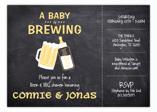 A Baby is Brewing Invitation Lovely Chalkboard Baby is Brewing Shower Invitation