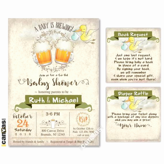 A Baby is Brewing Invitation Luxury Baby is Brewing Invitation Coed Baby Shower Invitations
