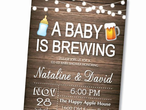 A Baby is Brewing Invitation New A Baby is Brewing Baby Shower Invitation Coed Baby Shower