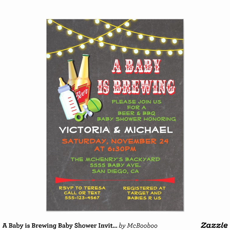 A Baby is Brewing Invitation New A Baby is Brewing Baby Shower Invitations