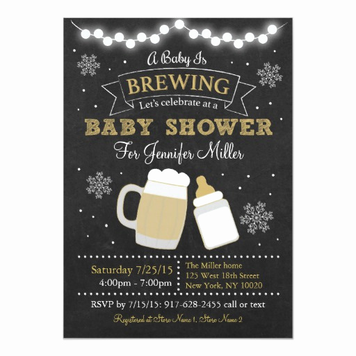 A Baby is Brewing Invitation New Winter Baby is Brewing Baby Shower Invitations