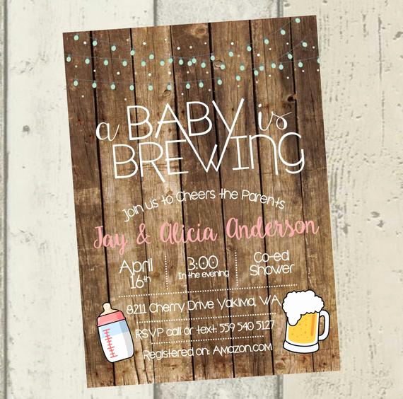A Baby is Brewing Invitation Unique A Baby is Brewing Invitation Beer Baby Shower Invitation