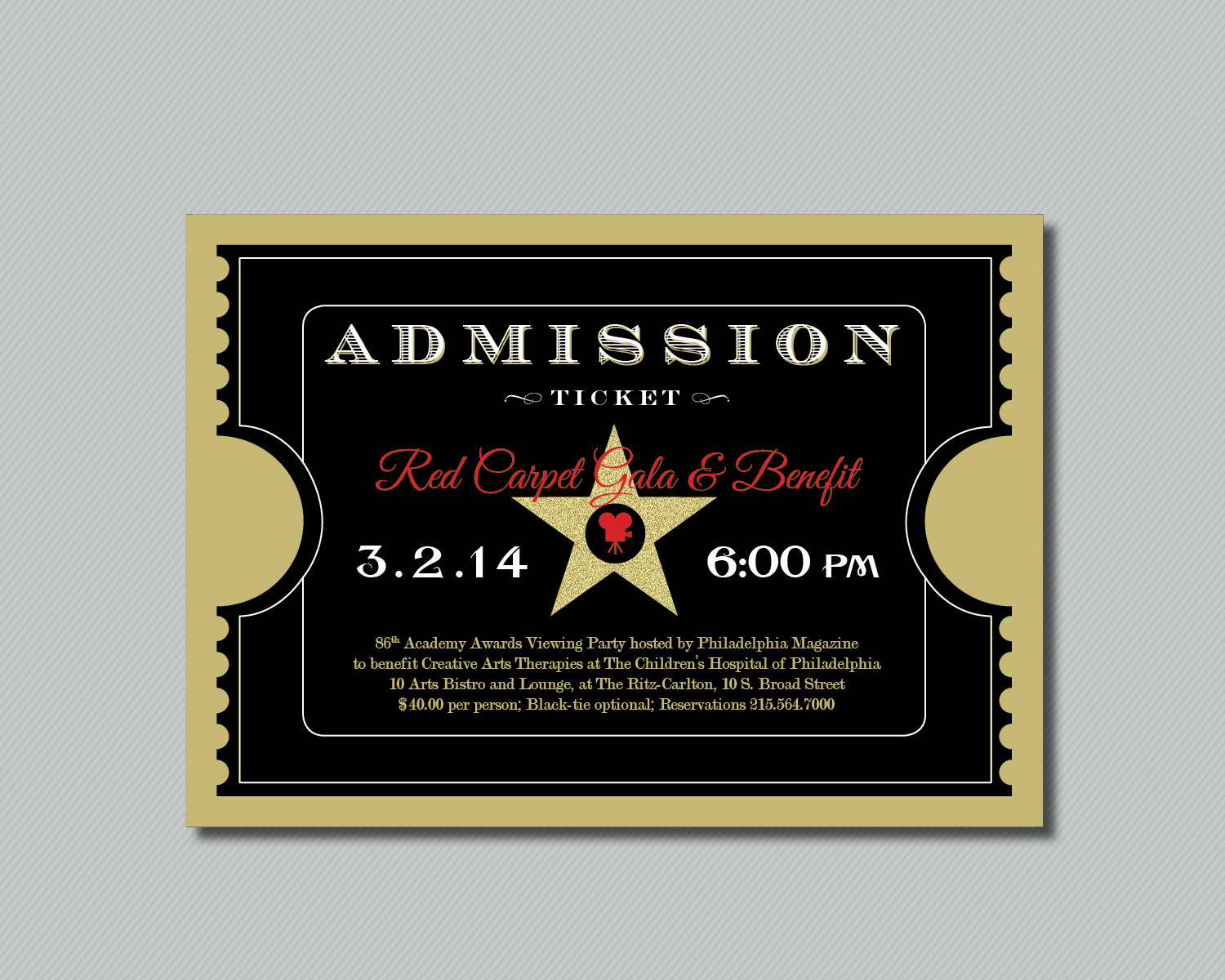 Admission Ticket Invitation Template Free Beautiful Beautiful Admission Ticket Template Design for Red Carpet