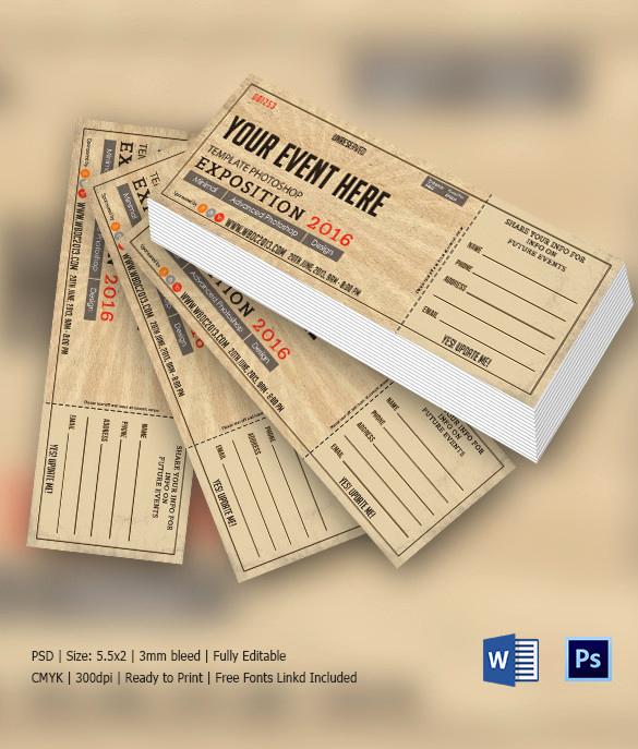 Admission Ticket Invitation Template Free Fresh Ticket Invitation Template 61 Free Psd Vector Eps Ai
