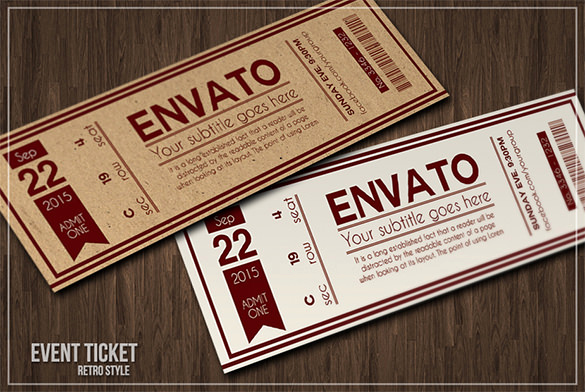 Admission Ticket Invitation Template Free Lovely 115 Ticket Templates Word Excel Pdf Psd Eps