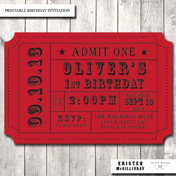 Admission Ticket Invitation Template Free Lovely Carnival Ticket Invitation Ticket Stub Editable