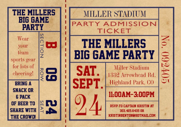 Admission Ticket Invitation Template Free Luxury 115 Ticket Templates Word Excel Pdf Psd Eps