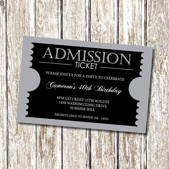 Admission Ticket Invitation Template Free Unique 17 Best Ideas About Admission Ticket On Pinterest