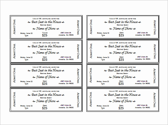 Admission Ticket Invitation Template Free Unique Ticket Templates – 99 Free Word Excel Pdf Psd Eps