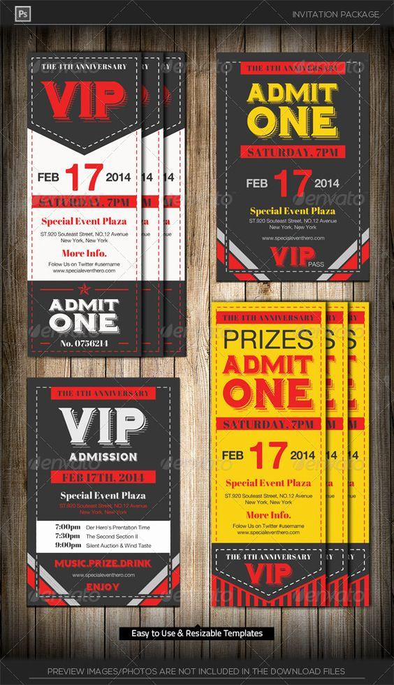 Admit One Ticket Invitation Inspirational Admit E Vip Ticket Invitation Template