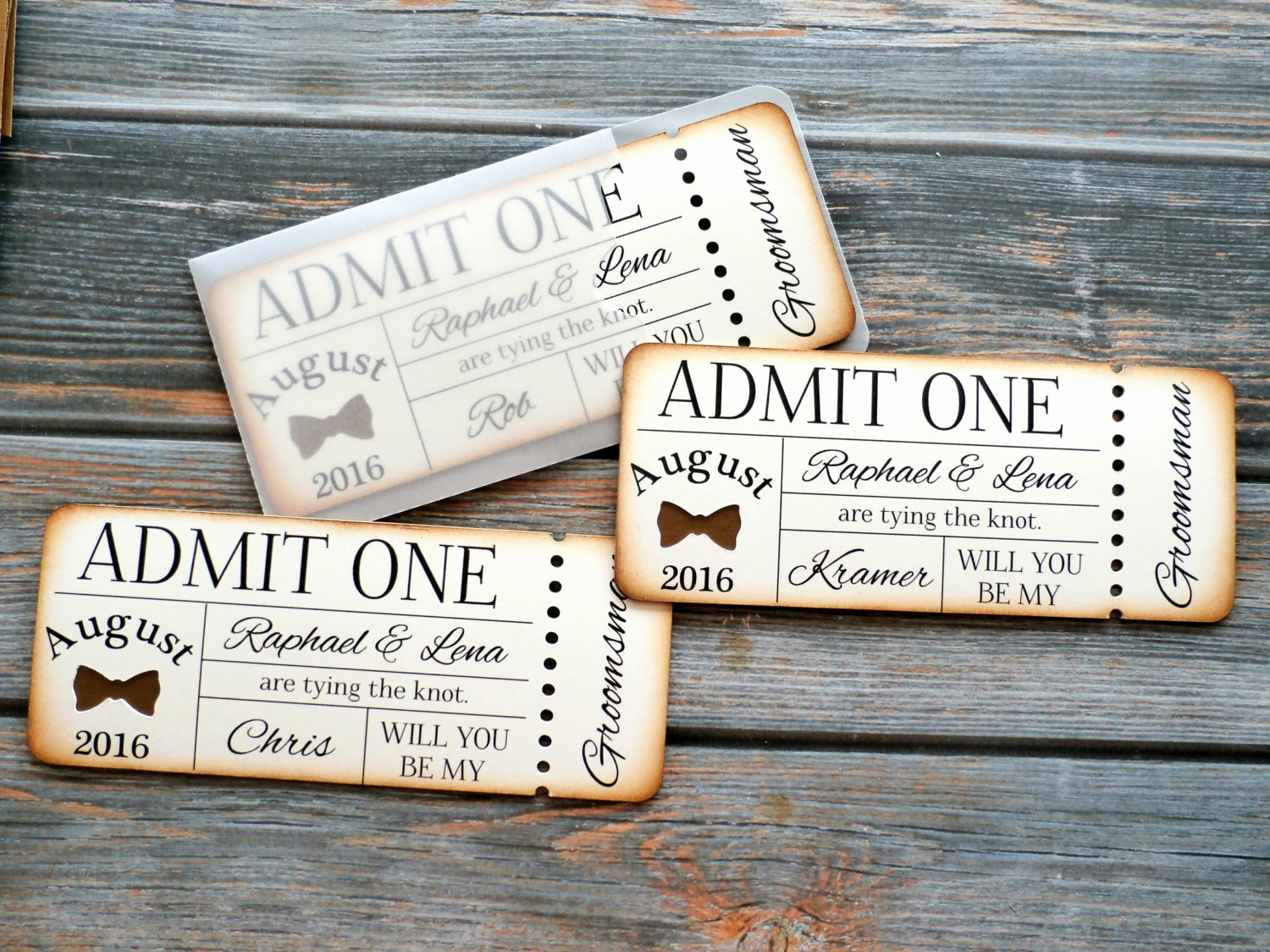 Admit One Ticket Invitation Inspirational Rustic Groomsman Invitation Admit E Ticket Invite by