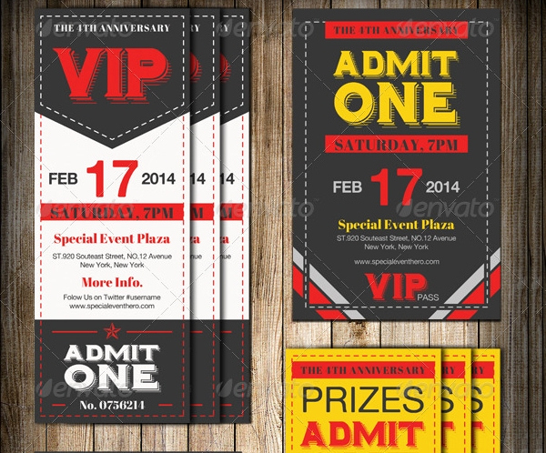 Admit One Ticket Invitation Template Beautiful 38 Ticket Invitation Templates Psd Eps Ai