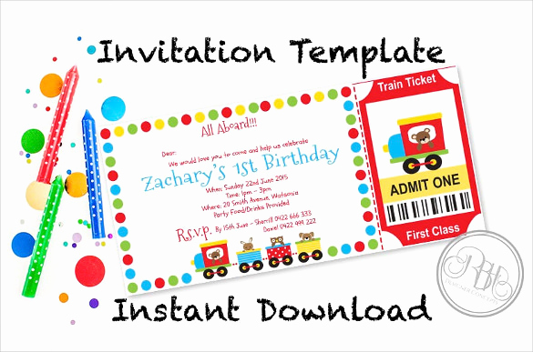 Admit One Ticket Invitation Template Best Of 49 Ticket Invitation Templates Psd Ai Word Pages