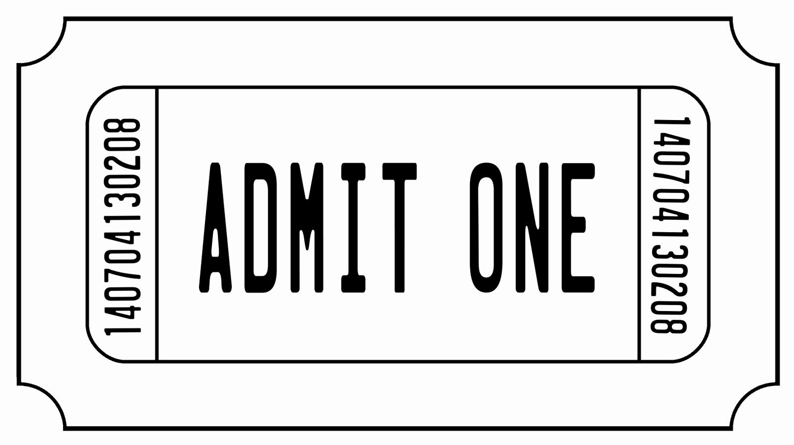 Admit One Ticket Invitation Template Elegant Ticket Stub Clipart Best Clipart Best