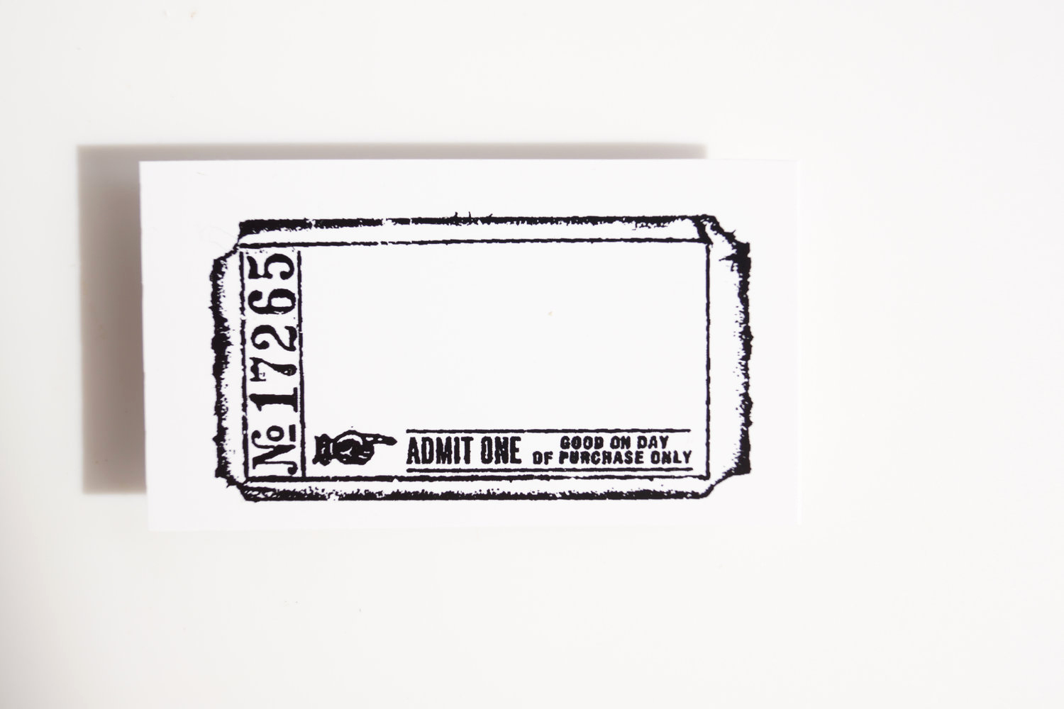 Admit One Ticket Invitation Template Inspirational Blank Admit E Ticket Stamp Rubber Cling Mounted Stamp