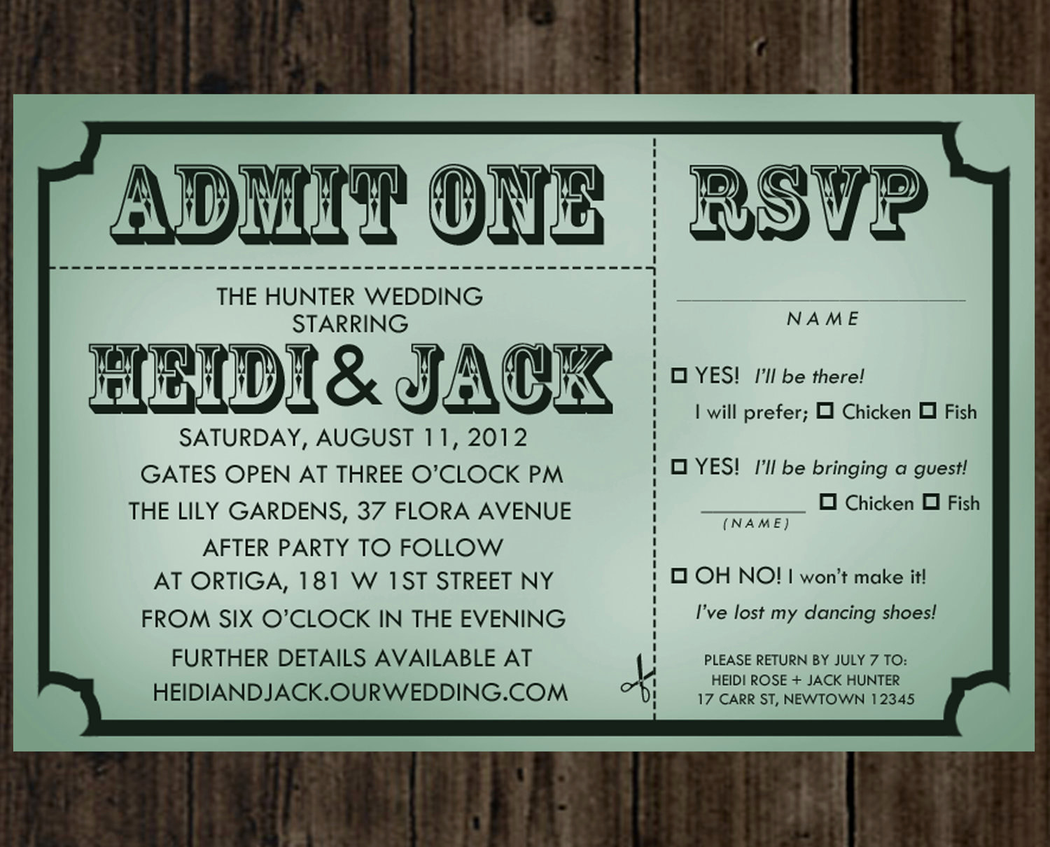 Admit One Ticket Invitation Template Inspirational Wedding Admit Cards