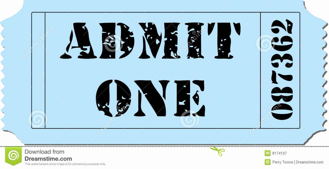 Admit One Ticket Invitation Template Luxury Admit E Ticket Template