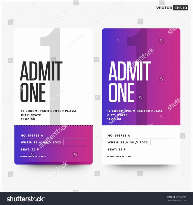 Admit One Ticket Invitation Template New Best 25 Admit One Ticket Ideas On Pinterest