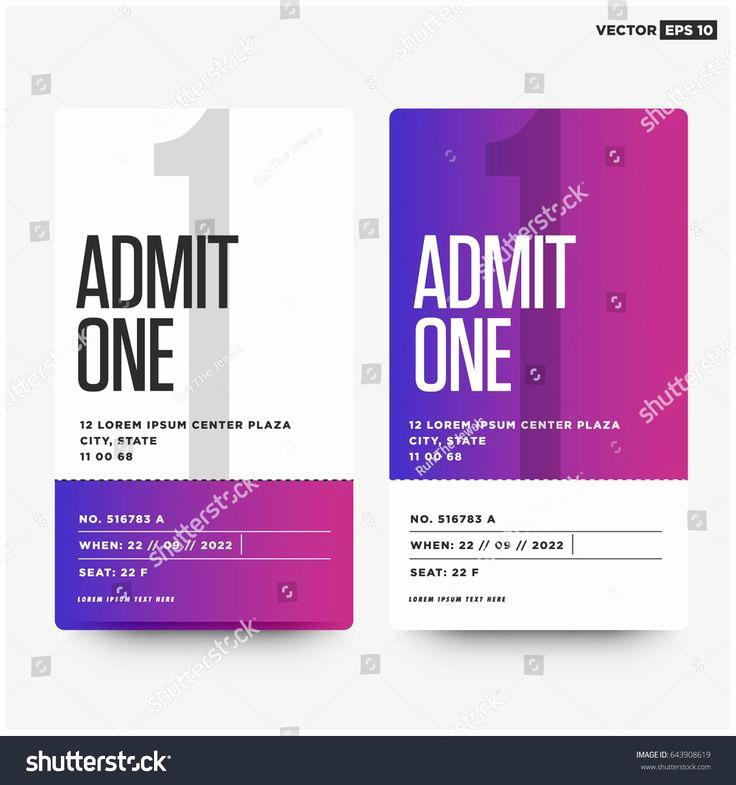 Admit One Ticket Invitation Template New Best 25 Admit One Ticket Ideas On Pinterest