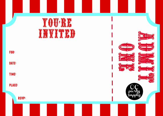 Admit One Ticket Invitation Template Unique 25 Of Carnival Admit E Ticket Template