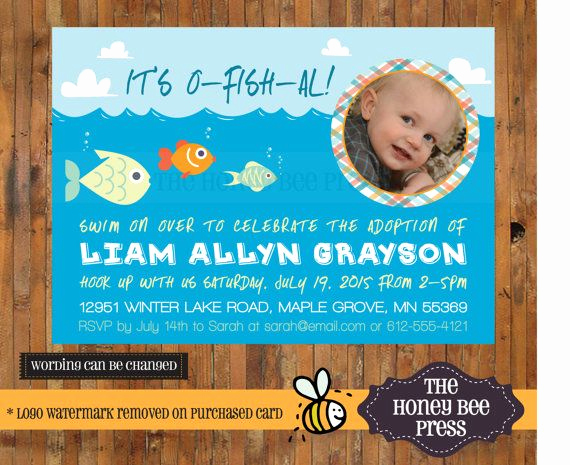 Adoption Baby Shower Invitation Wording Beautiful Adoption Celebration Invitation It S O Fish Al Adoption