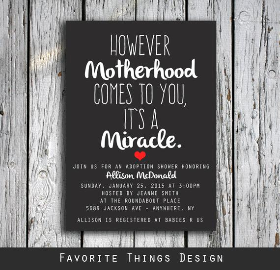 Adoption Baby Shower Invitation Wording Beautiful Adoption Shower Invitation However Motherhood Es to You