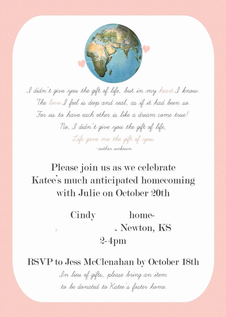 Adoption Baby Shower Invitation Wording Elegant 24 Best Adoption Party Shower Images On Pinterest