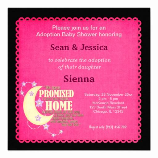 "Adoption Baby Shower Invitation Wording Luxury Adoption Baby Shower Girl 5 25"" Square Invitation Card"