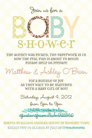 Adoption Baby Shower Invitation Wording New Adoption Baby Shower