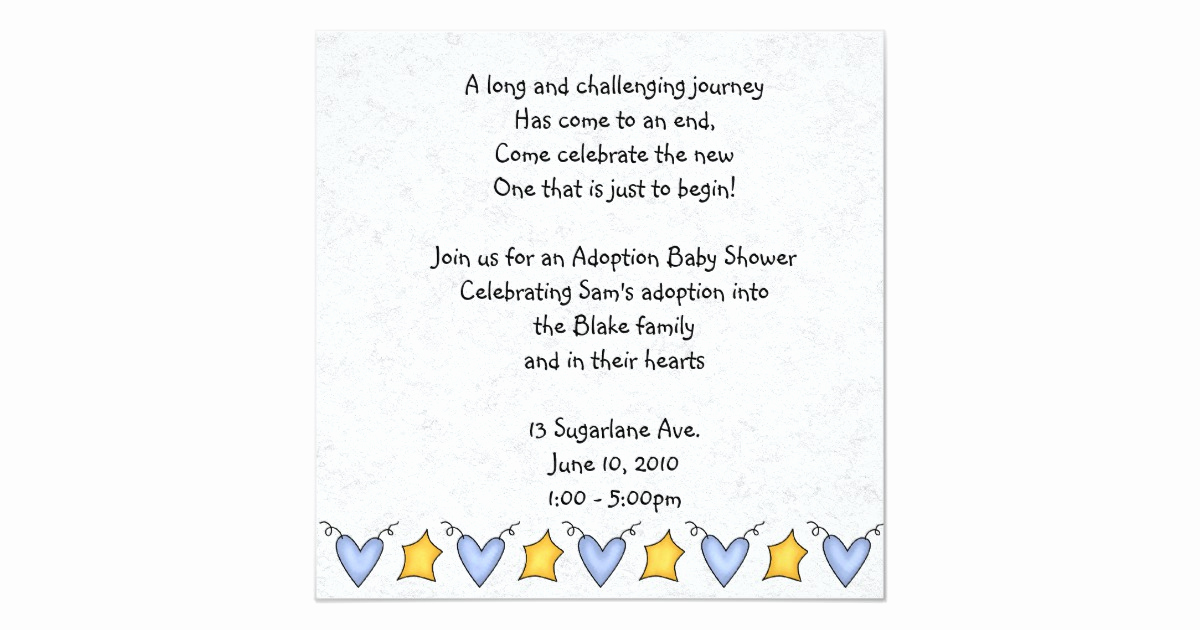 Adoption Shower Invitation Wording Beautiful Adoption Shower Invitation