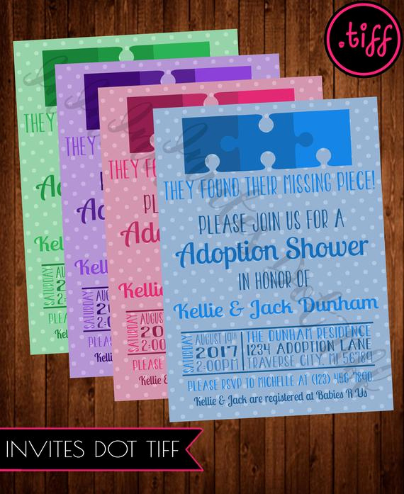 Adoption Shower Invitation Wording Best Of Missing Puzzle Piece Adoption Shower Invitation Printable