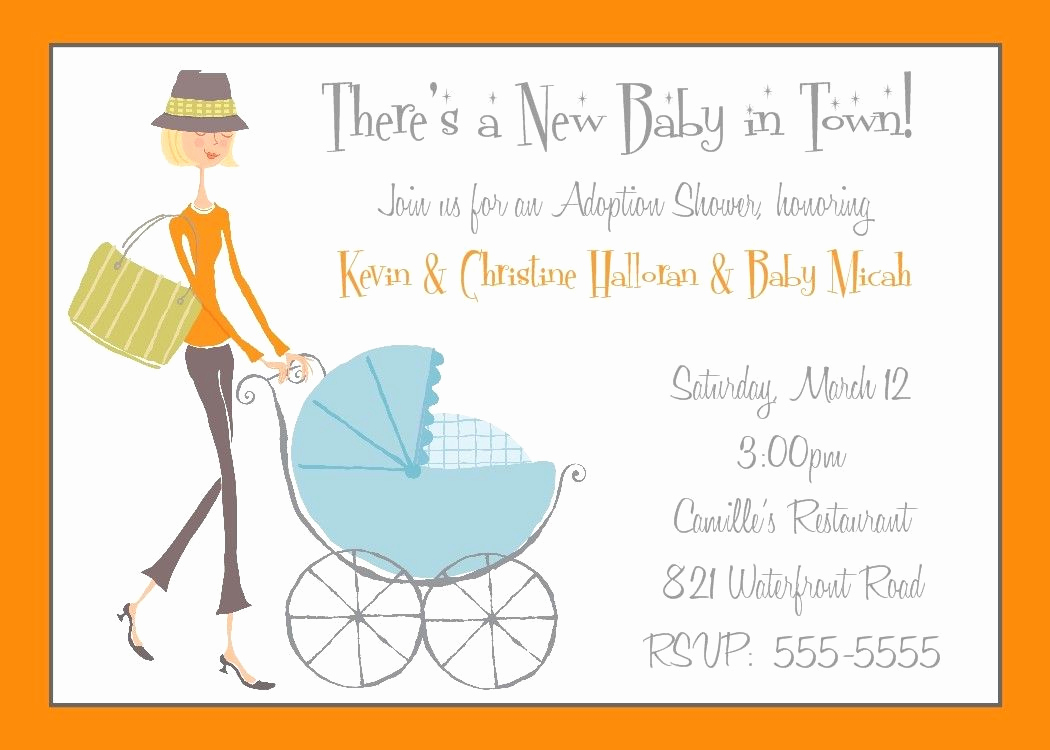 Adoption Shower Invitation Wording Fresh Adoption Shower Invitation or Baby Shower by