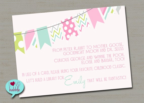 Adoption Shower Invitation Wording Inspirational Baby Girl Boy Shower Adoption Invitation Book Request Card