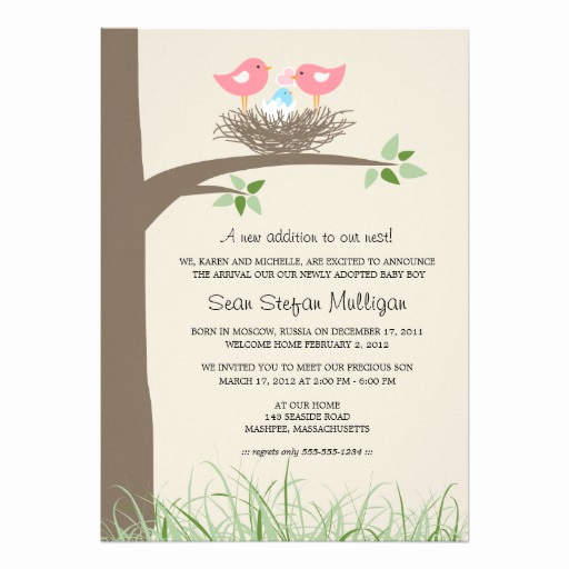 Adoption Shower Invitation Wording Lovely 1 000 Adoption Invitations Adoption Announcements