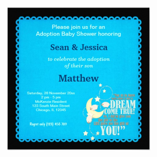 Adoption Shower Invitation Wording Luxury Adoption Baby Shower Boy 5 25x5 25 Square Paper Invitation