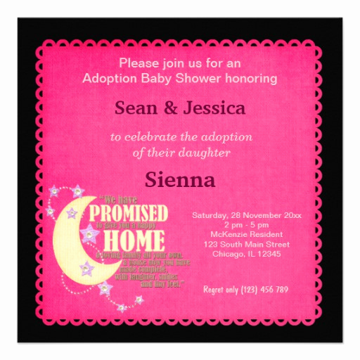 "Adoption Shower Invitation Wording New Adoption Baby Shower Girl 5 25"" Square Invitation Card"