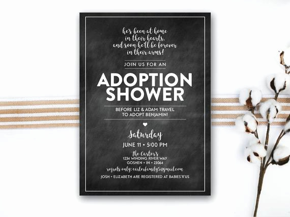 Adoption Shower Invitation Wording New Instant Download Adoption Shower Printable Invitation