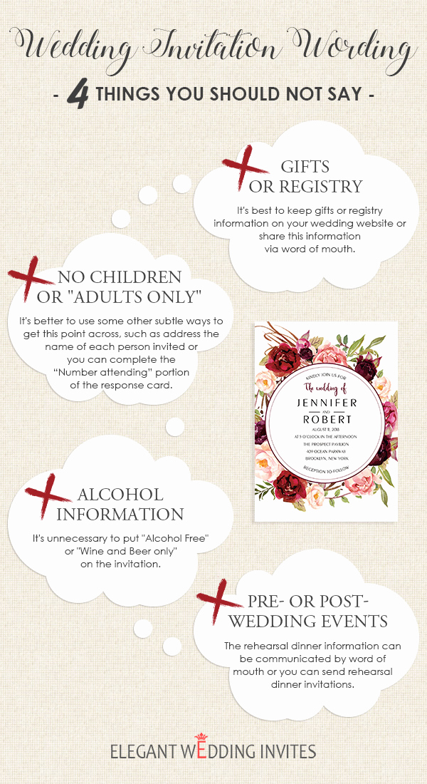 wedding invitation wording 4 things you should not say