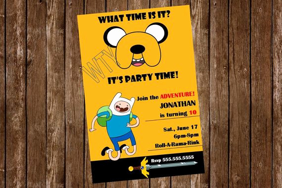 Adventure Time the Invitation Awesome Free Adventure Time Invitations